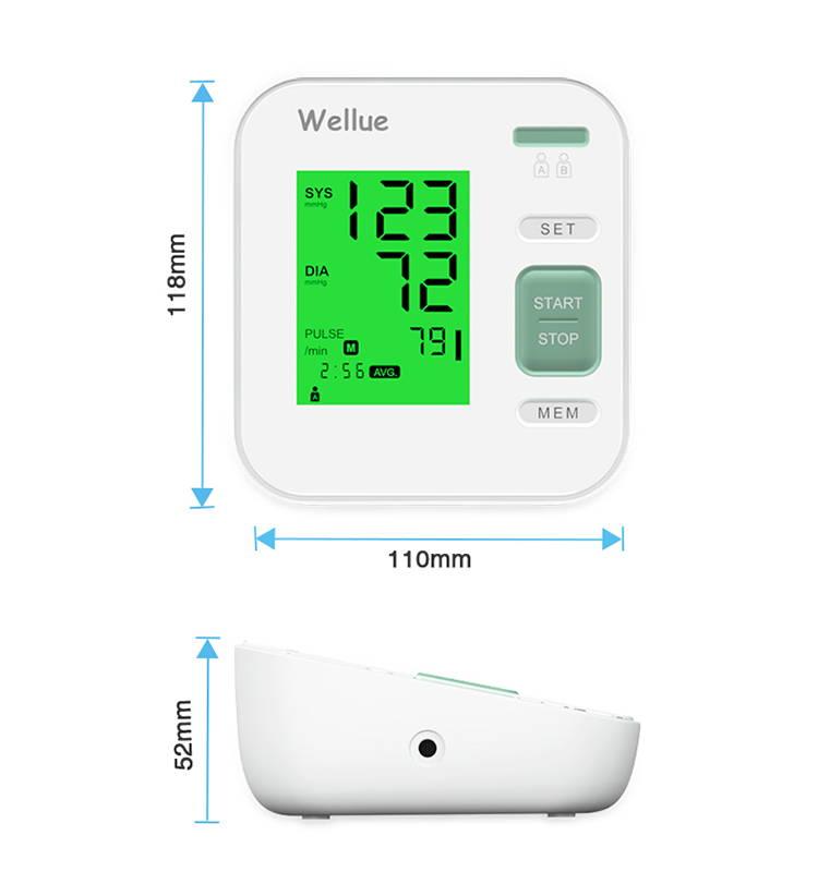 أبعاد جهاز قياس ضغط الدم الرقمي