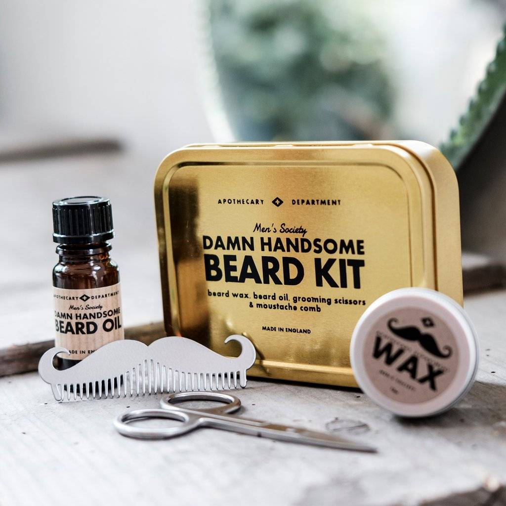 Beard grooming kit   men's gifts