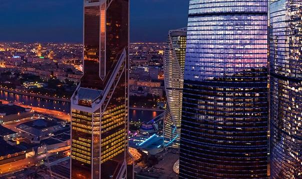 Смотровая площадка башни Федерация Москва-Сити (утро)