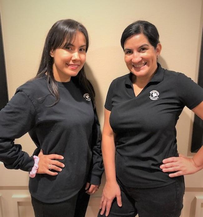 Mrs. Berboly Roldan and Mrs. Luz Bedoya from Primrose School of Bridgeland, located in Bridgeland Texas