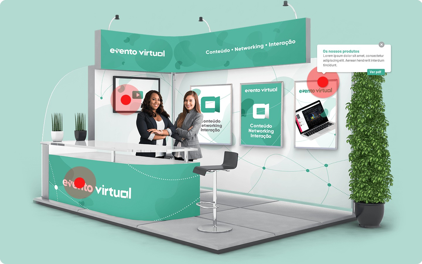 Interactive Exhibition Stands with hotspots