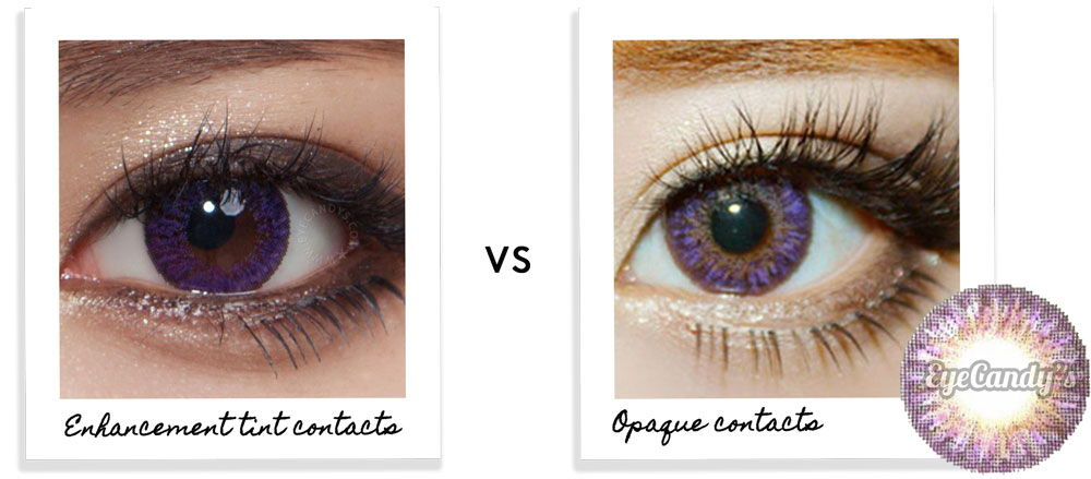 enhancement tint contacts vs opaque contact lenses
