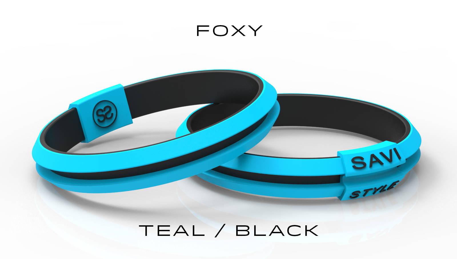 savi sleek by savistyle hair tie bracelet Foxy Teal