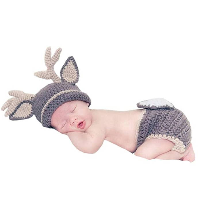deer outfit preemie hat for baby's first halloween in the nicu