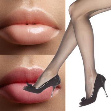 Think of the Line Smoothing Lip Gloss coverage like sheer evening pantyhose.