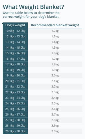 Choose the correct weight for a medium dog