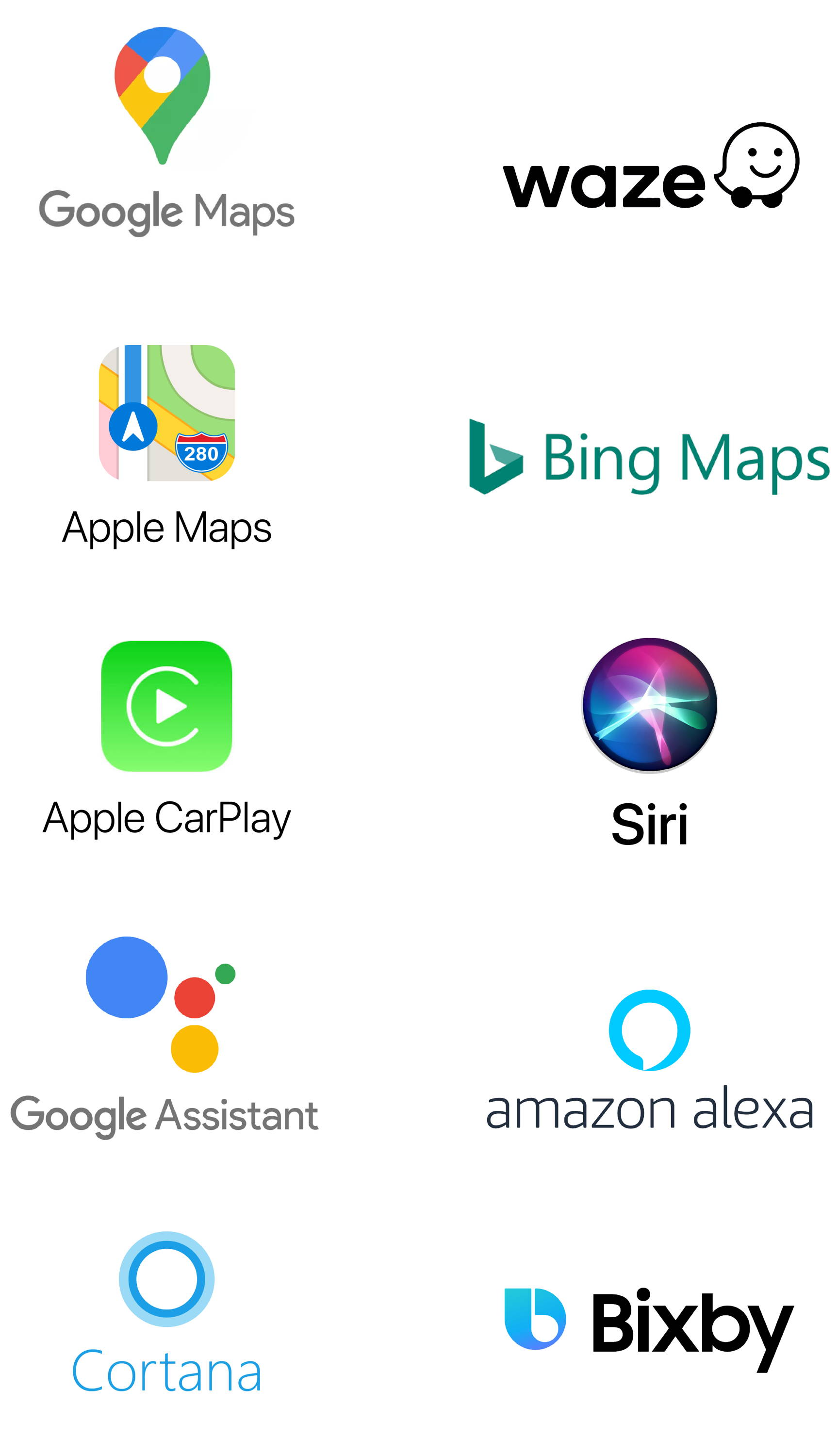 Apple Maps and other major maps and voice search platforms
