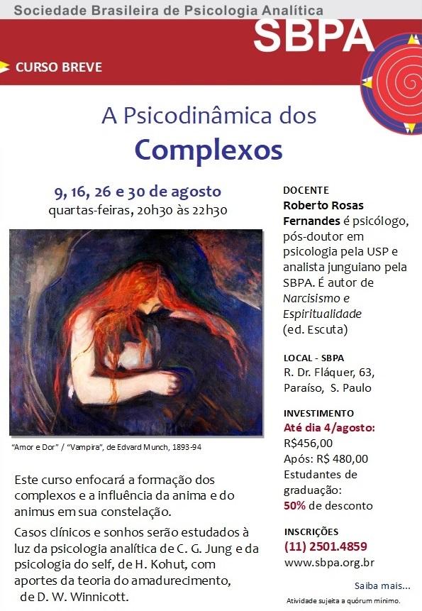 Curso: A Psicodinâmica dos Complexos - Em Agosto 2017