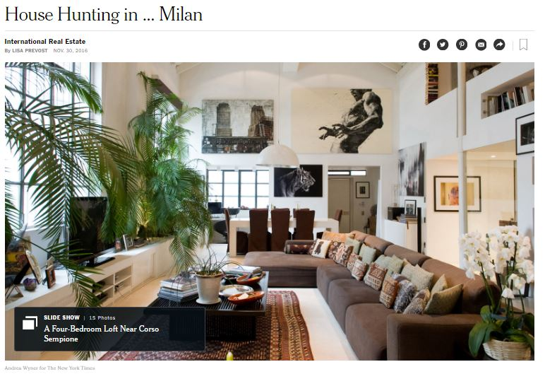 Milano (MI) - New York Times on E&V Milan