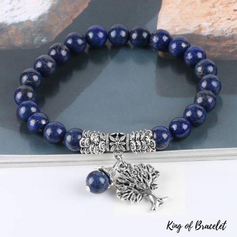 Bracelet en Arbre de Vie en Perles de Lapis Lazuli - King of Bracelet