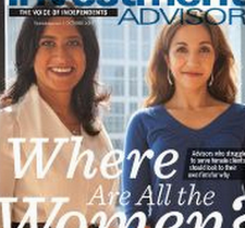 Naureen Hassan and Neesha Hathi, seen here on the cover of Investment Advisor, will host a webcast all about robo-advisors -- presumably featuring its own about-to-drop product -- on March 23.
