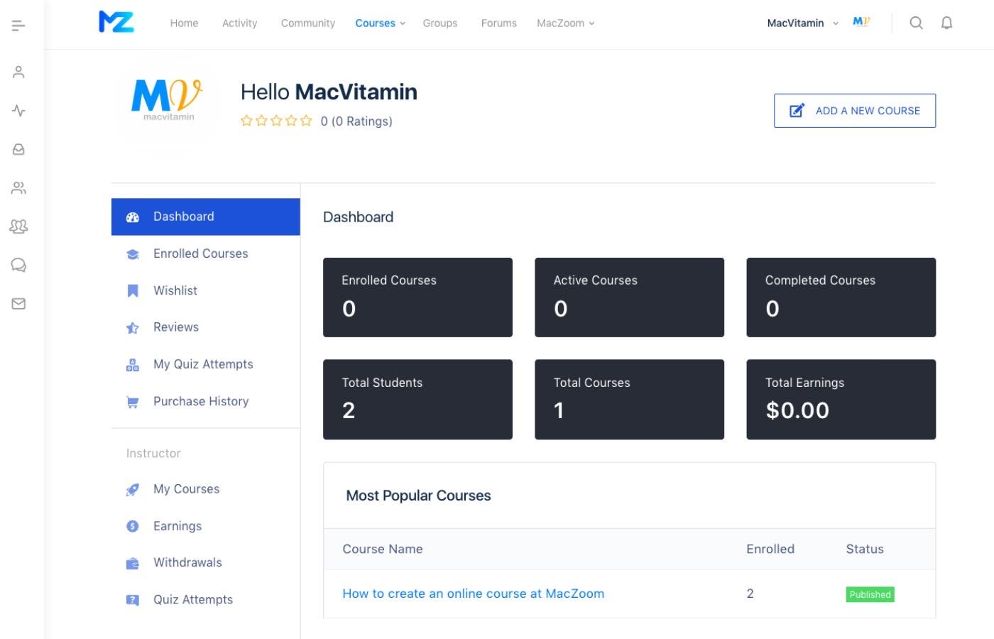 Maczoomdashboard