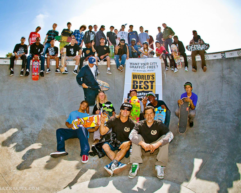 removing graffiiti from venice skate park