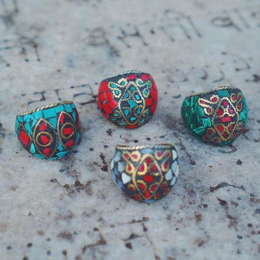 Крупные тибетские кольца