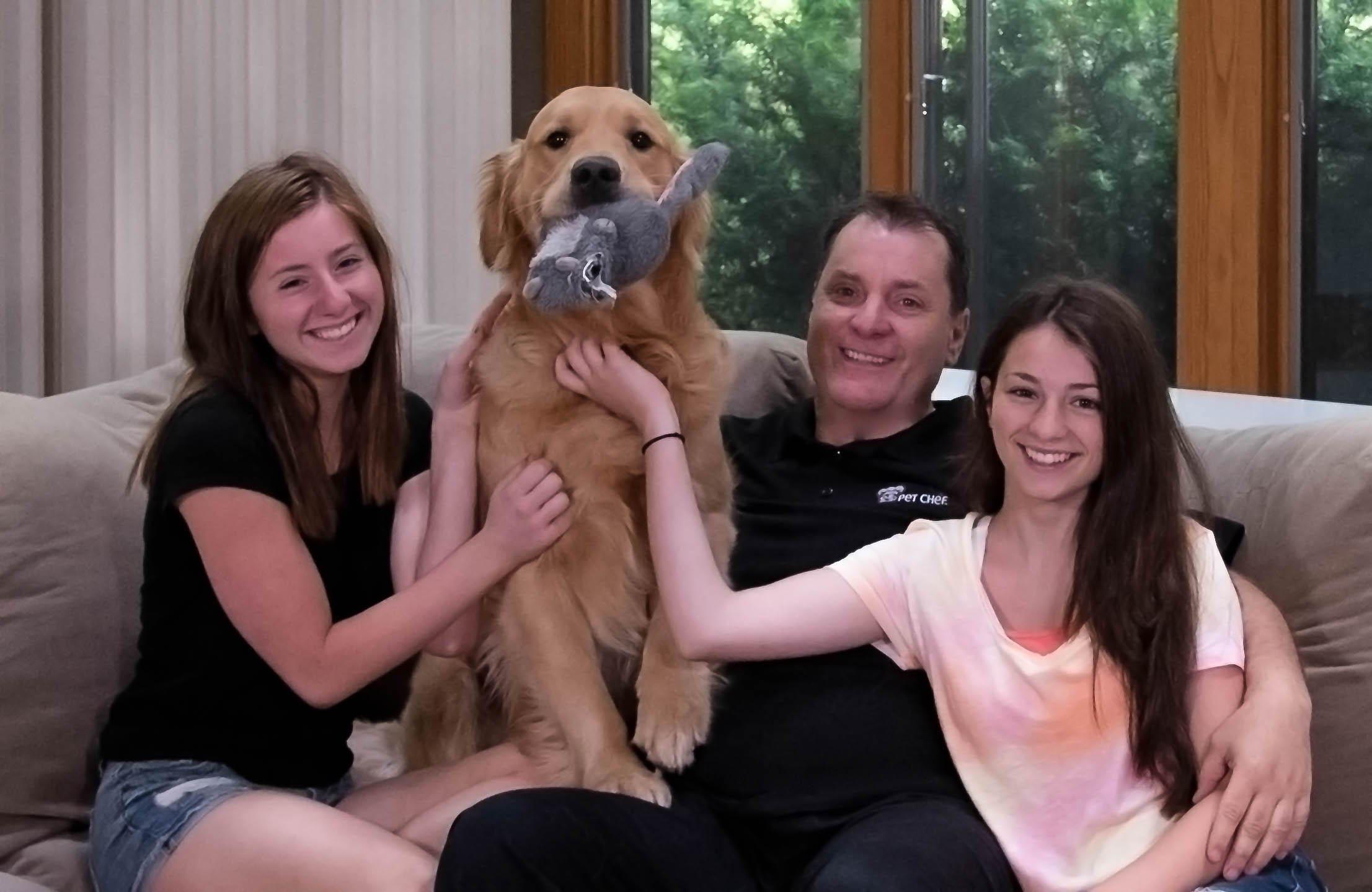 Kodi Bear and the PetChef family
