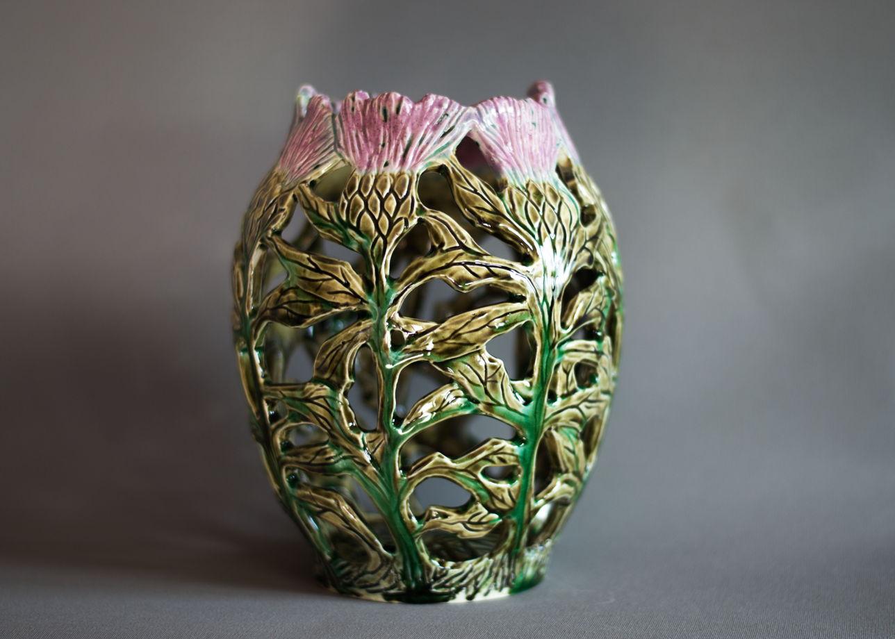 Резная ваза-подсвечник «Чертополох»
