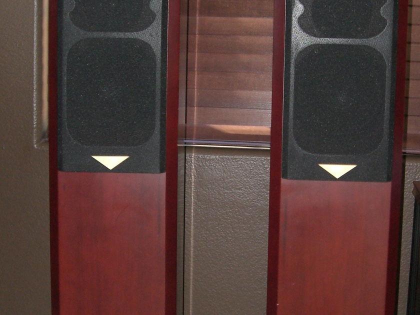 Usher  V-604 Floor Standing Speakers Mahogany