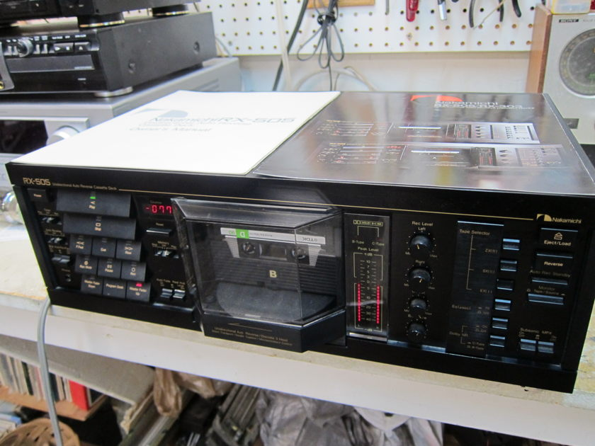 Nakamichi RX-505 Owners Manual, Ex Condition