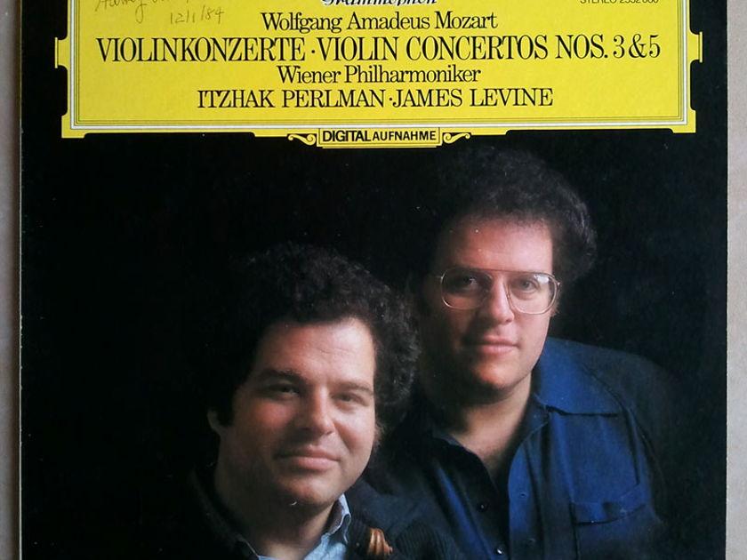DG Digital   PERLMAN/LEVINE/MOZART - Violin Concertos Nos. 3 & 5 / NM