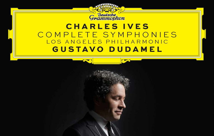 Gustavo Dudamel on the cover of Grammy-Winning Recording of Ives' Four Symphonies