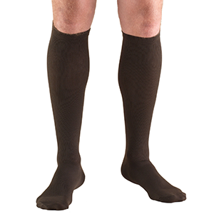 Men's Knee High Dress Socks in Brown