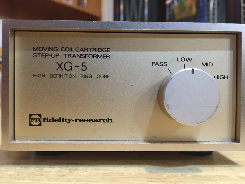 Fidelity Research XG-5 moving coil cartridge step up transformer