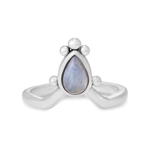 Кольцо IRIS - Лунный камень
