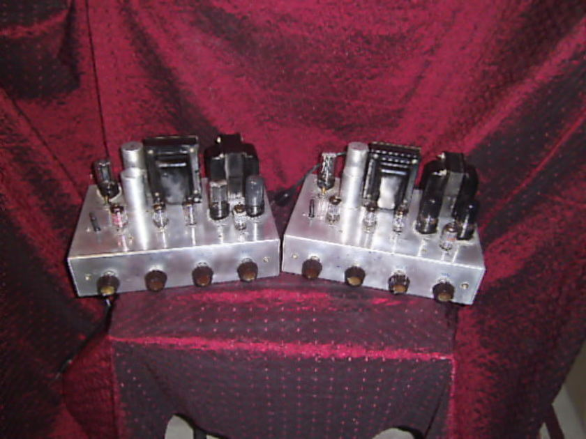 Vintage Tube Mono Block Amplifiers Dictograph HFMT  Custom Engineered High Fidelity Music System 1956