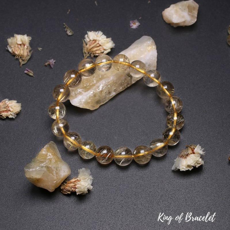Bracelet de Lithothérapie en Quartz Rutile - King of Bracelet