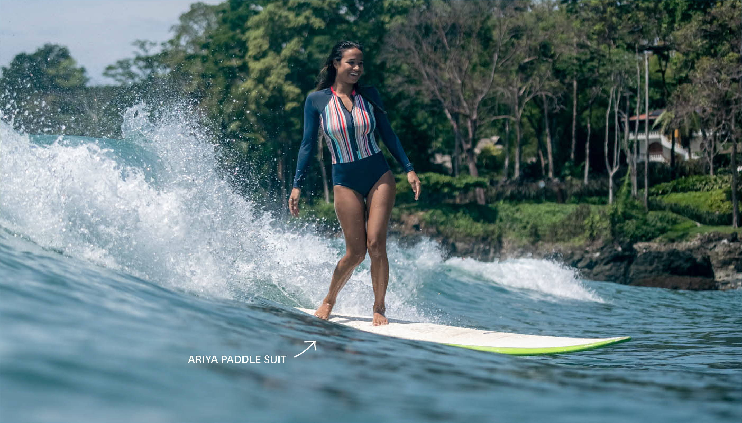 Get the Ariya Paddle Suit in our SULUADA print!
