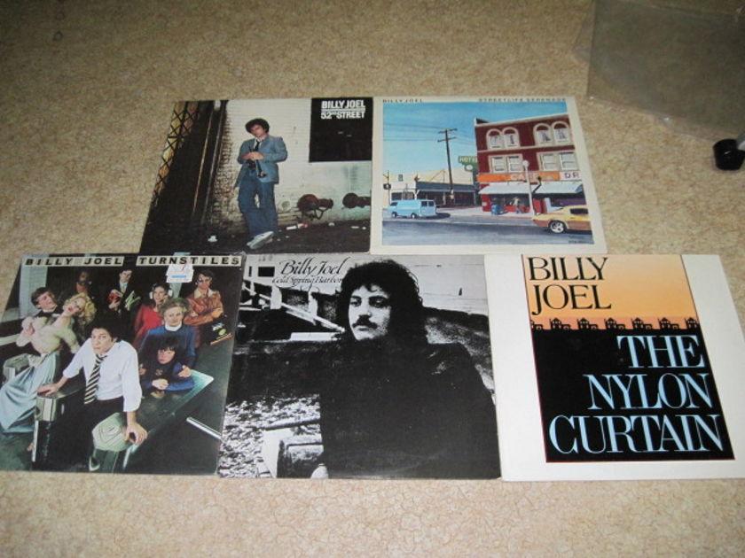 Billy Joel LPs -lot of 5- - Streetlife Serenade, Nylon Curtain, 2nd Street, Cold Spring Harbor, Turnstile