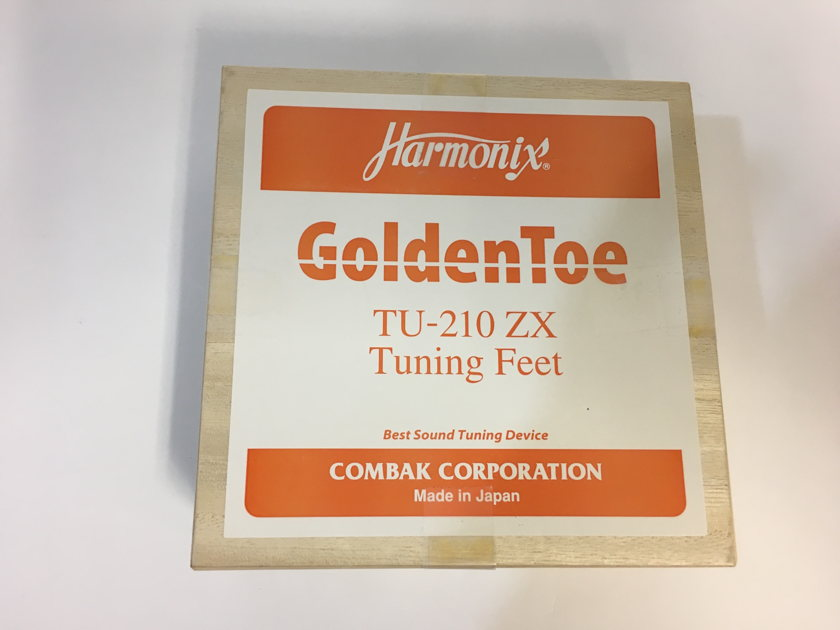 Harmonix Combak GoldenToe TU-210 ZX Tuning Feet, 4 pieces plus Discs