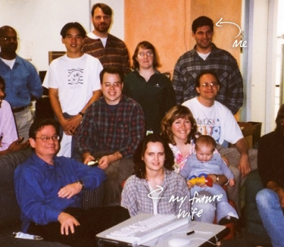 We were young once .... Nash included this 1997 photo of himself and compatriots at Apple Inc. in Cupertino, Calif. in his blog attack.