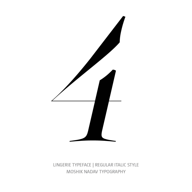 Lingerie Typeface Regular Italic 4 - Fashion fonts by Moshik Nadav Typography
