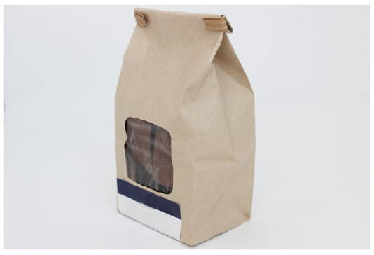 bakery bag prior to makeover to eco friendly packaging for baked goods, canada