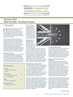2016 Summer Newsletter