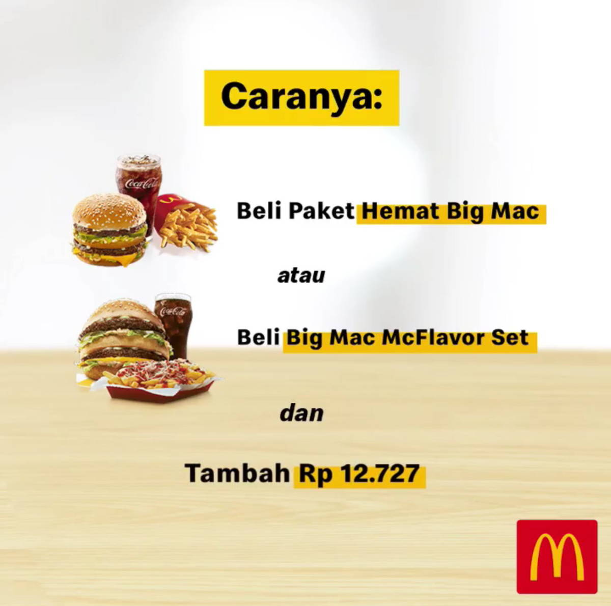 Katalog Promo: McDonalds: PROMO Limited Edition Big Mac Tin! Cukup nambah Rp 12.727 saja dengan di sertai pembelian Paket Hemat Big Mac atau Big Mac McFlavor Set - 2