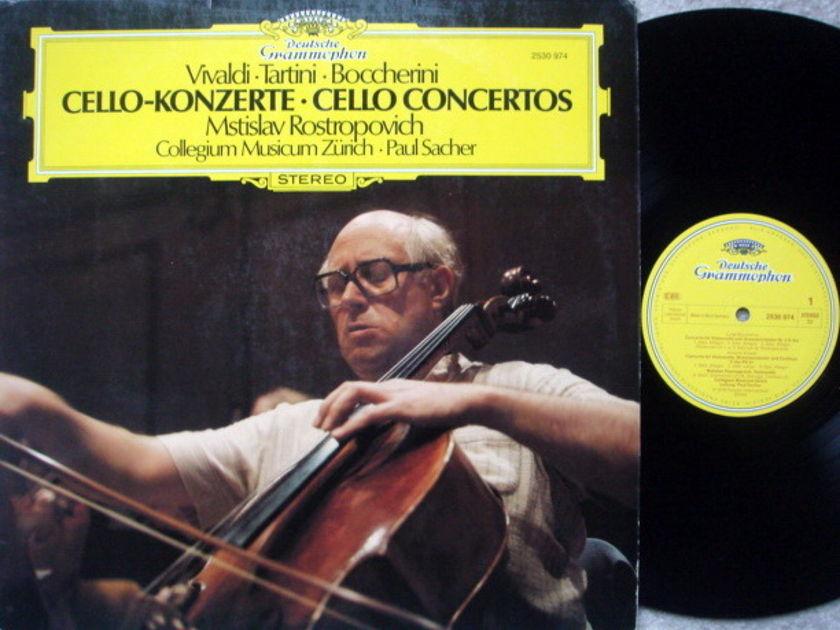 DG / ROSTROPOVICH-SACHER,  - Vivaldi-Tartini-Boccherini Cello Concertos, NM!