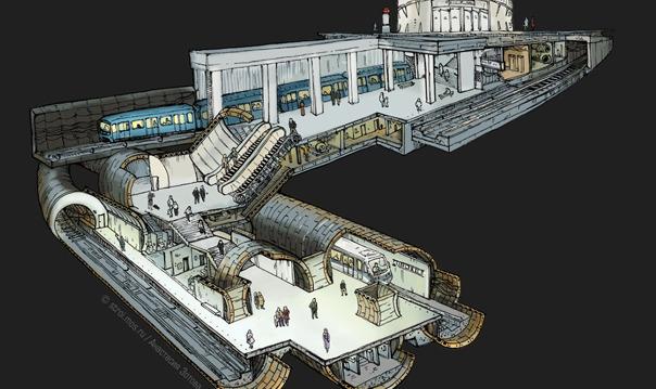 Знакомство с устройством и секретами московского метро с обедом в подземном ретро-кафе