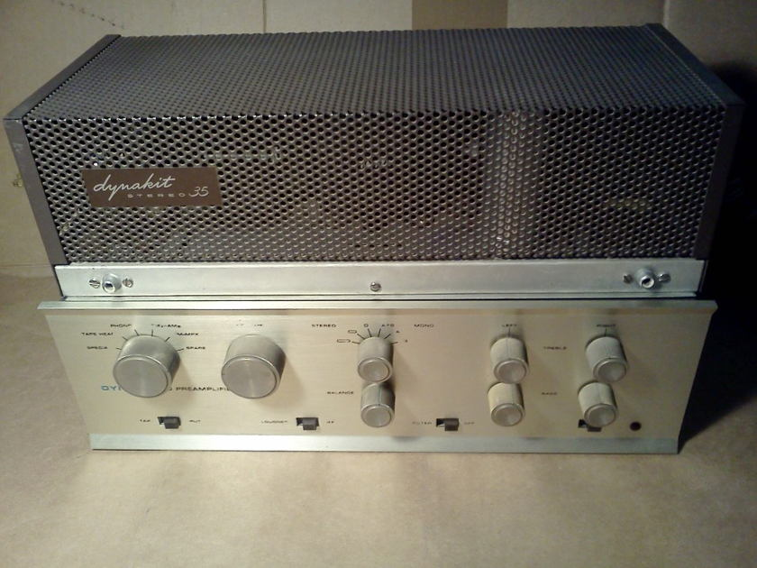 Dynaco ST35 + PAS 3 Power Amp & Preamp Combo Work Great + Very Clean