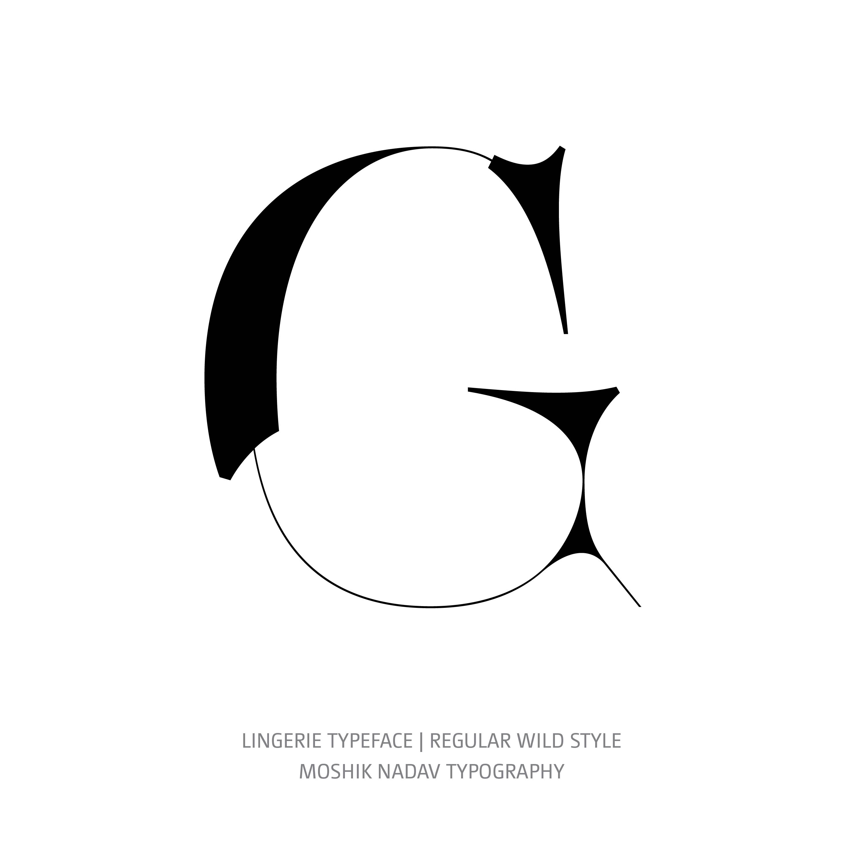 Lingerie Typeface Regular Wild G