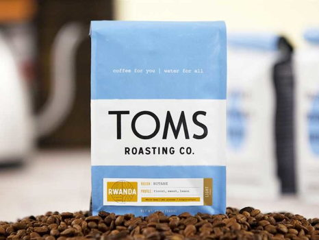 TOMS Roasting Co - 2 12oz Bags of Coffee & 2 Coffees
