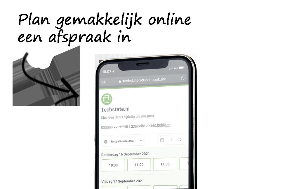Plan online een reparatie in voor je telefoon of tablet