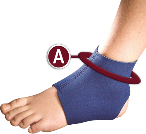 KidsLine Slip-on Ankle Support Measurement Location
