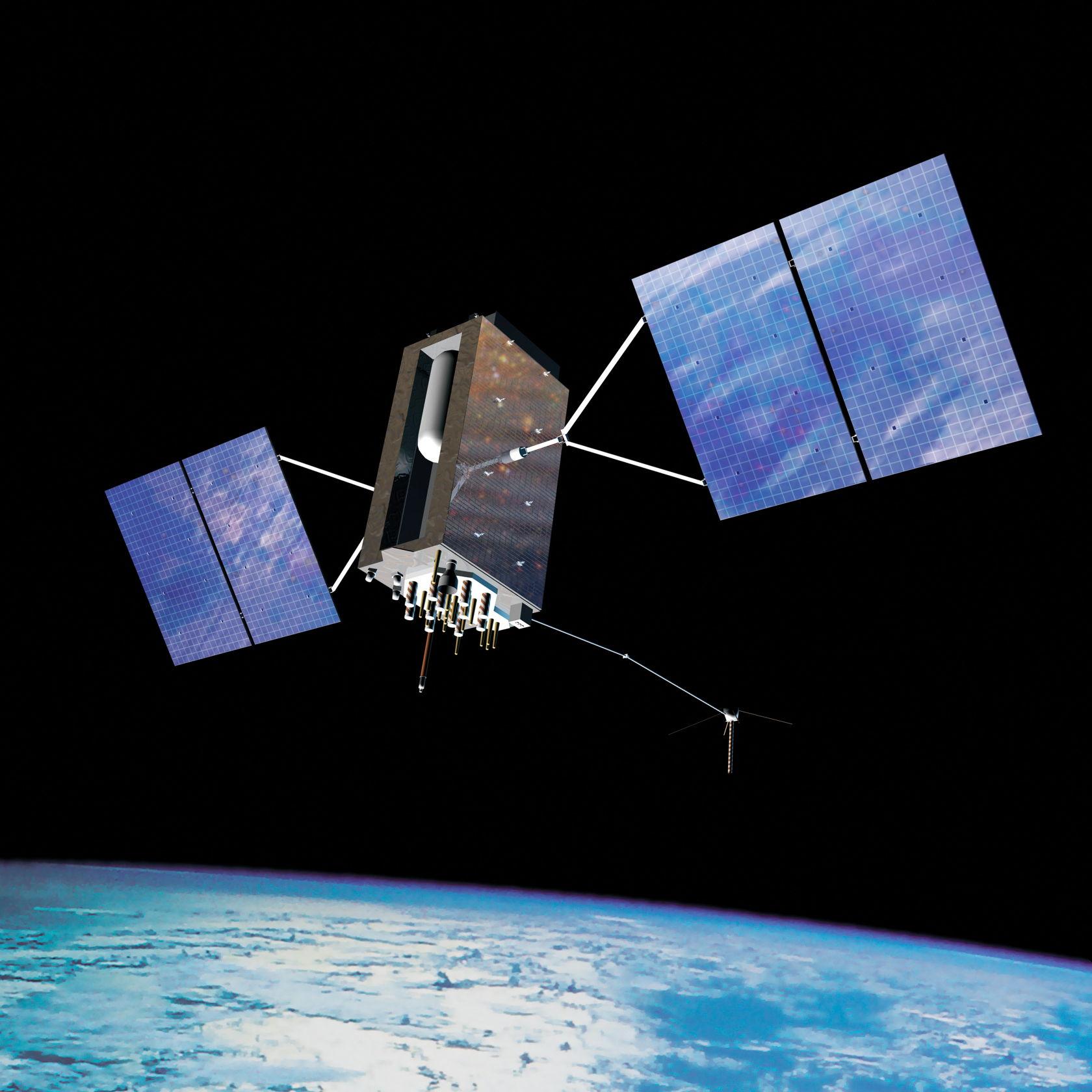 最新世代のGPS衛星となるナブスター・ブロックIII(画像提供:米国政府)