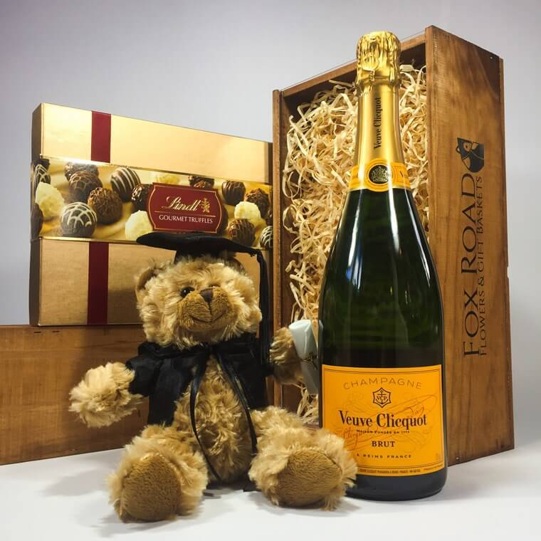graduation bear gift basket