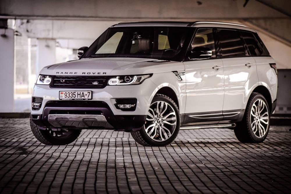 Range Rover pictured in a multi storey carpark