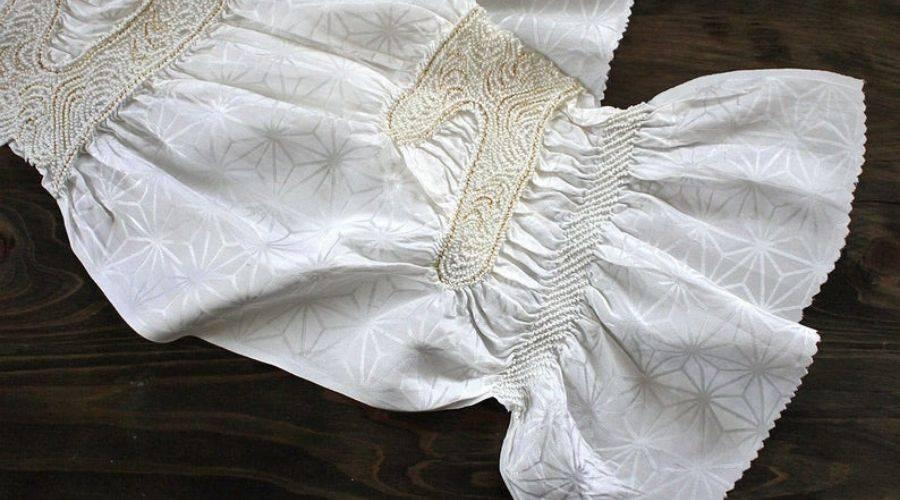 White Silk Obi-age
