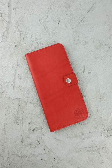 Красный Трэвл из натуральной кожи