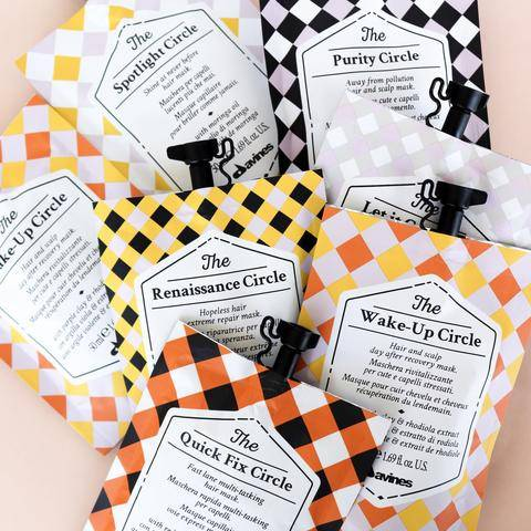 7 Davines The Circle Chronicles hair mask pouches